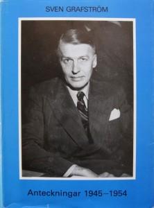 Sven Grafström, Anteckningar 1945—1954. Utgivna genom Stig Ekman. Stockholm 1989. ISBN 91-85104-18-3